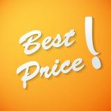 Migliore fondo di vettore della carta di prezzi Fotografia Stock