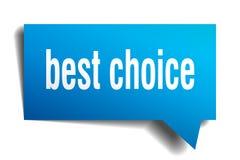Migliore fumetto choice del blu 3d Fotografie Stock