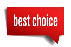 Migliore fumetto choice di rosso 3d Fotografia Stock Libera da Diritti