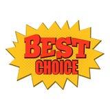 Migliore icona choice dei fumetti Immagini Stock