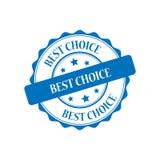 Migliore illustrazione choice del bollo Immagine Stock Libera da Diritti