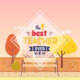 Migliore illustrazione di Ever Postcard Vector dell'insegnante Fotografie Stock Libere da Diritti