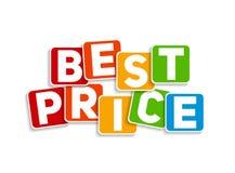 Migliore illustrazione di vettore del modello del segno di prezzi Fotografia Stock