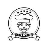 Migliore illustrazione di vettore di Poster Sketch Text del cuoco unico Immagini Stock Libere da Diritti