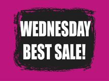 Migliore insegna di vendita di mercoledì Immagini Stock