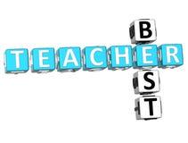 Migliore insegnante Crossword Fotografie Stock Libere da Diritti