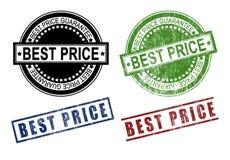 Migliore insieme del timbro di gomma del segno di prezzi Fotografie Stock Libere da Diritti