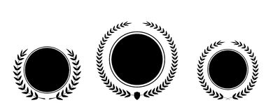 Migliore insieme della corona dell'alloro del premio di vettore del premio Etichetta del vincitore, vittoria di simbolo della fog Fotografia Stock Libera da Diritti