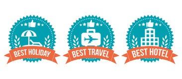 Migliore insieme di elementi Choice di viaggio del distintivo Fotografie Stock