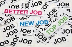 Migliore job, nuovo job, job superiore Fotografia Stock