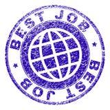 MIGLIORE JOB Stamp Seal strutturato graffiato Immagini Stock Libere da Diritti