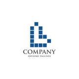 Migliore lettera L concetto del quadrato di logo Fotografia Stock