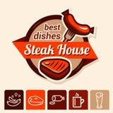 Migliore logo della bistecca Fotografie Stock