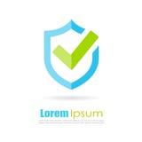 Migliore logo dello schermo di protezione Immagini Stock Libere da Diritti