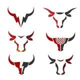 Migliore logo semplice di vettore della testa del toro Immagini Stock