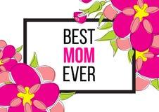 Migliore mamma mai Immagini Stock Libere da Diritti