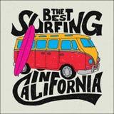Migliore manifesto del surfista di California Fotografia Stock Libera da Diritti