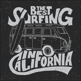Migliore manifesto del surfista di California Immagine Stock Libera da Diritti