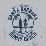Migliore manifesto praticante il surfing Fotografia Stock Libera da Diritti