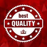 Migliore marchio di qualità di vettore bianco con la corona reale Fotografie Stock