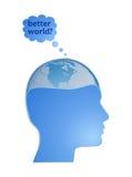 Mondo migliore? Fotografia Stock
