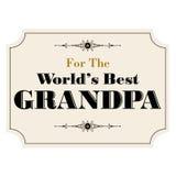 Migliore nonno dei mondi Immagini Stock Libere da Diritti