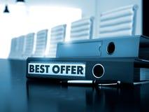 Migliore offerta sulla cartella di archivio Immagine tonificata 3d Immagine Stock