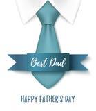 Migliore papà, fondo felice di giorno di padri Immagine Stock Libera da Diritti