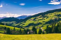 Migliore posto alpino famoso del mondo, Santa Maddalena St Magda Immagini Stock