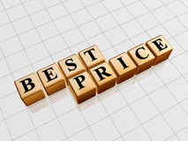 Migliore prezzo dorato Immagine Stock