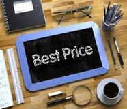 Migliore prezzo scritto a mano sulla piccola lavagna 3d Fotografia Stock