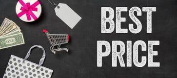 Migliore prezzo scritto su una lavagna Fotografia Stock Libera da Diritti