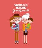 Migliore progettazione dei nonni Fotografia Stock