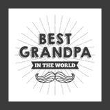 Migliore progettazione del nonno Fotografia Stock Libera da Diritti