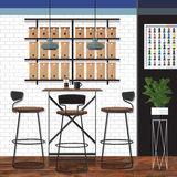 Migliore progettazione della caffetteria Fotografia Stock Libera da Diritti