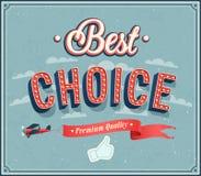 Migliore progettazione tipografica choice. Fotografia Stock