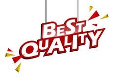 Migliore qualità dell'etichetta rossa e gialla royalty illustrazione gratis