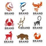 Migliore raccolta animale di logo Fotografia Stock Libera da Diritti