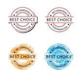 Migliore retor choice del distintivo Fotografie Stock