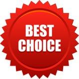 Migliore rosso choice del bollo della guarnizione Fotografia Stock