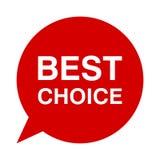 Migliore scelta, fumetto Fotografia Stock