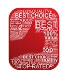 Migliore segno Choice di tipografia royalty illustrazione gratis
