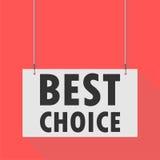 Migliore segno d'attaccatura choice Fotografia Stock