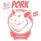 Migliore segno della carne di maiale Immagini Stock