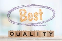 Migliore segno di qualità con testo Fotografia Stock Libera da Diritti