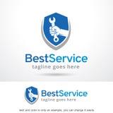Migliore servizio Logo Template Design Vector Immagine Stock