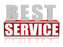 Migliore servizio nelle lettere e nel blocco Fotografia Stock Libera da Diritti