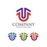 Migliore simbolo di logo di vettore della lettera U Immagine Stock