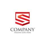 Migliore simbolo geometrico di logo di vettore della lettera S Fotografia Stock