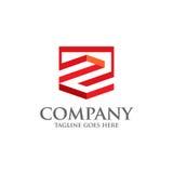 Migliore simbolo geometrico di logo di vettore della lettera Z Immagini Stock